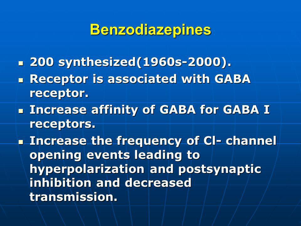 Benzodiazepines 200 synthesized(1960s-2000).200 synthesized(1960s-2000).