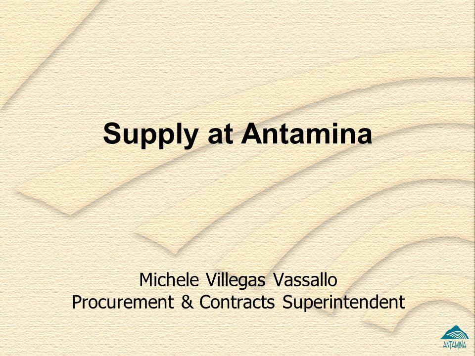 Michele Villegas Vassallo Procurement & Contracts Superintendent Supply at Antamina