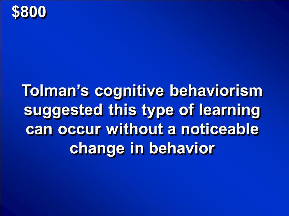 © Mark E. Damon - All Rights Reserved $600 Neobehaviorism Scores