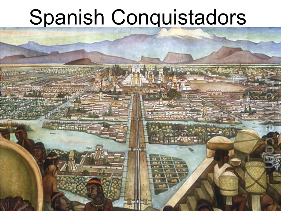 Spanish Conquistadors In 1519, Hernan Cortes heard rumors of a wealthy empire in Mexico and took 600 soldiers and 16 horses there in search of gold. O