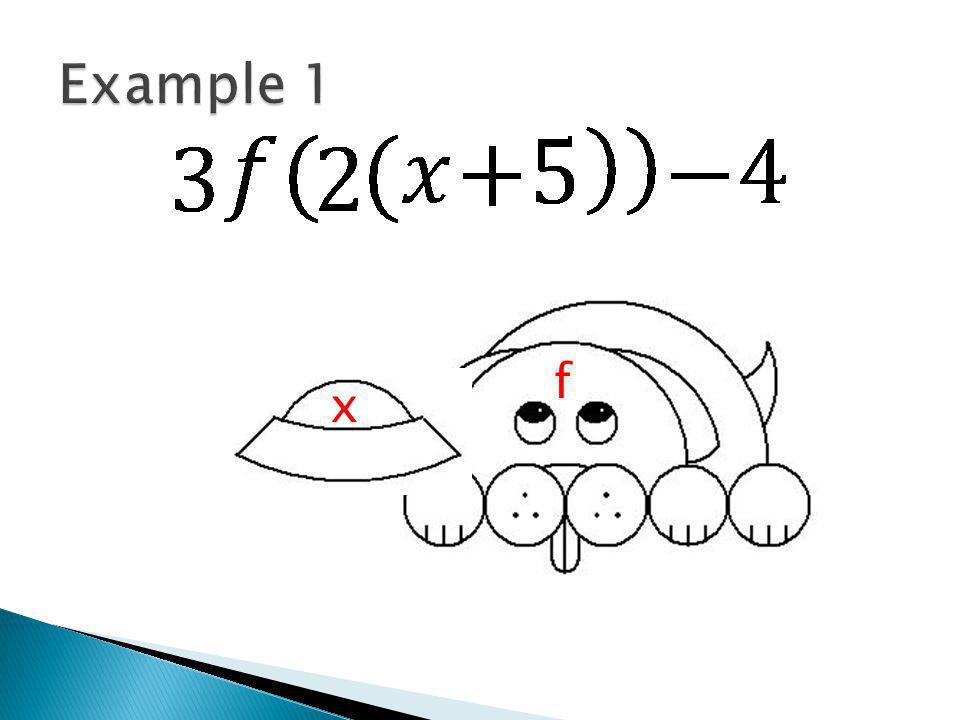 f(2(x+5)) x f x