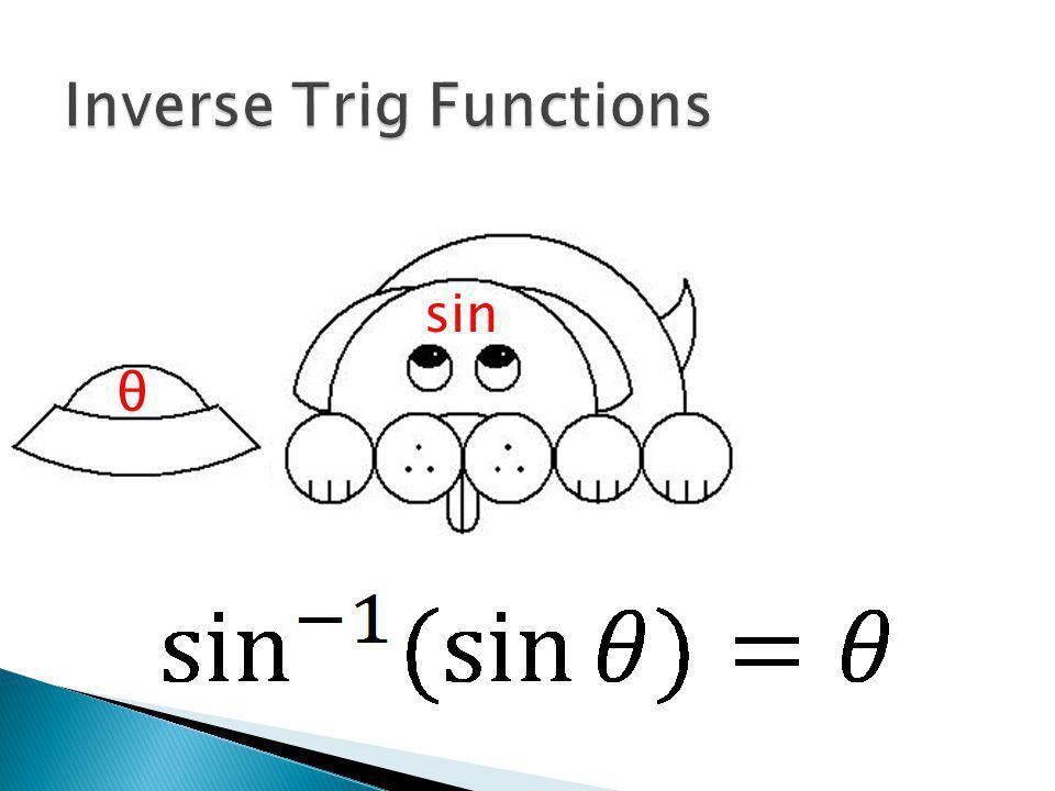 θ sin(θ) sin -1 sin