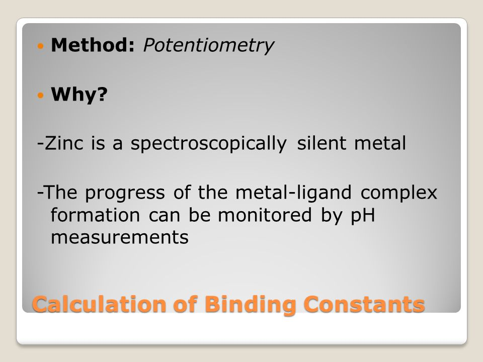 Hypothesis It will be more difficult for protons to bind to the ligand (HEPES/PIPES buffer) in the presence of Zn.