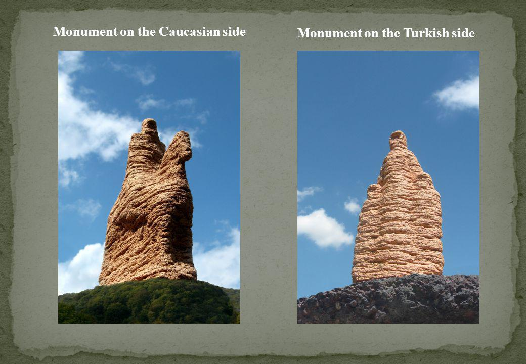 Monument on the Caucasian side