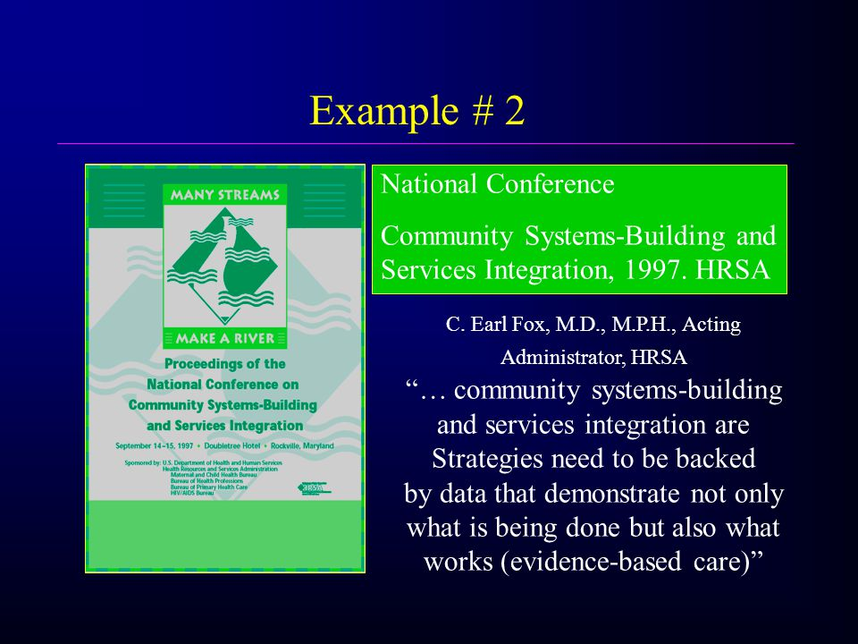 National Conference Community Systems-Building and Services Integration, 1997.