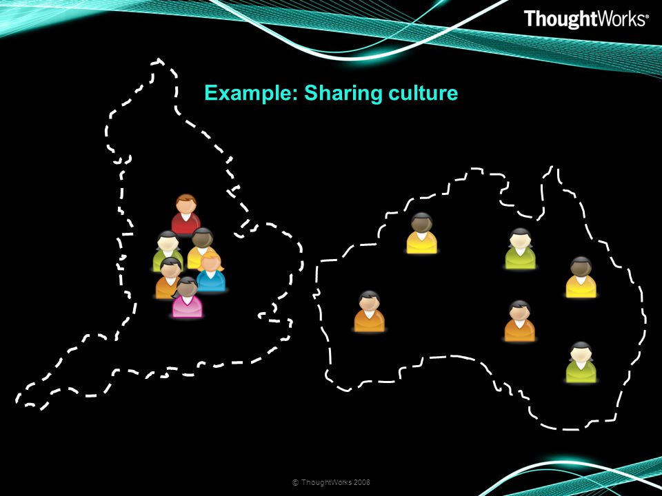 © ThoughtWorks 2008 Example: Sharing culture