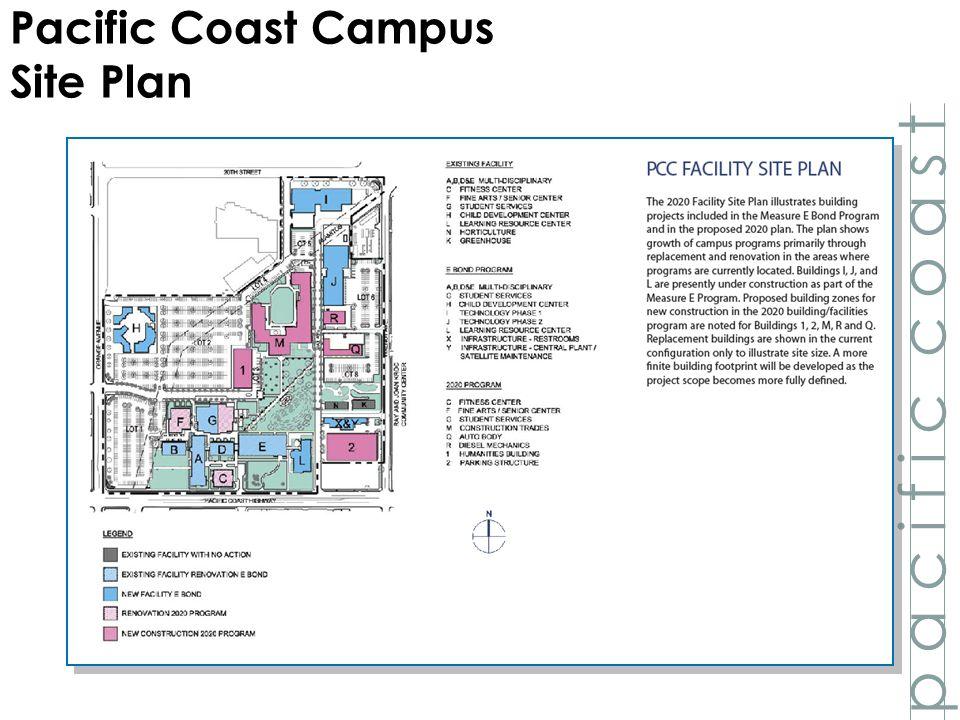 p a c i f i c c o a s t Pacific Coast Campus Site Plan