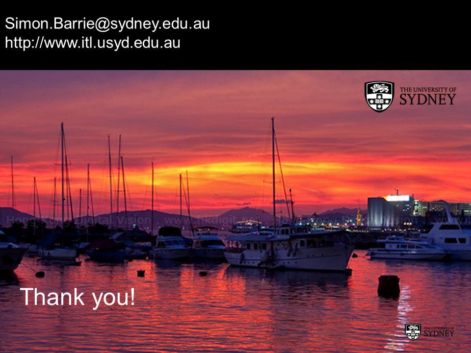 Thank you! Simon.Barrie@sydney.edu.au http://www.itl.usyd.edu.au