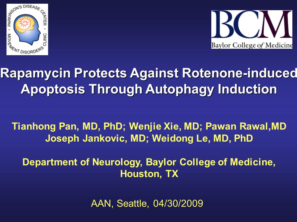 Tianhong Pan, MD, PhD; Wenjie Xie, MD; Pawan Rawal,MD Joseph Jankovic, MD; Weidong Le, MD, PhD Department of Neurology, Baylor College of Medicine, Ho