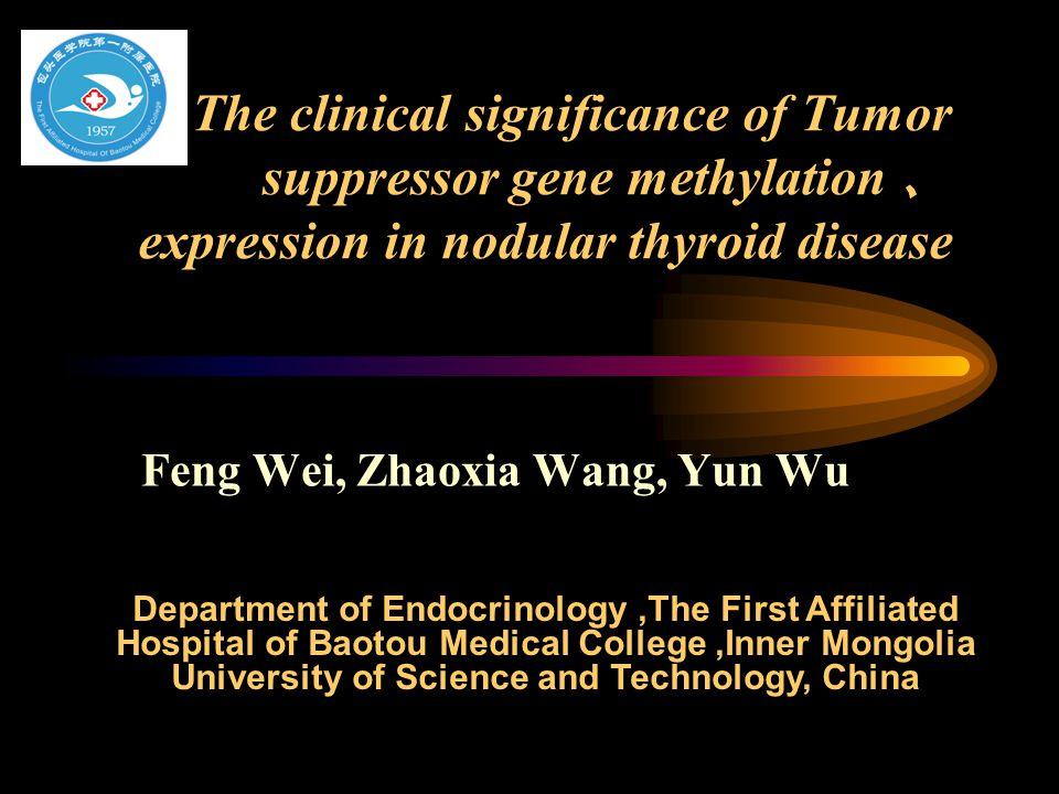 Nodular thyroid disease pathogenesis 1.