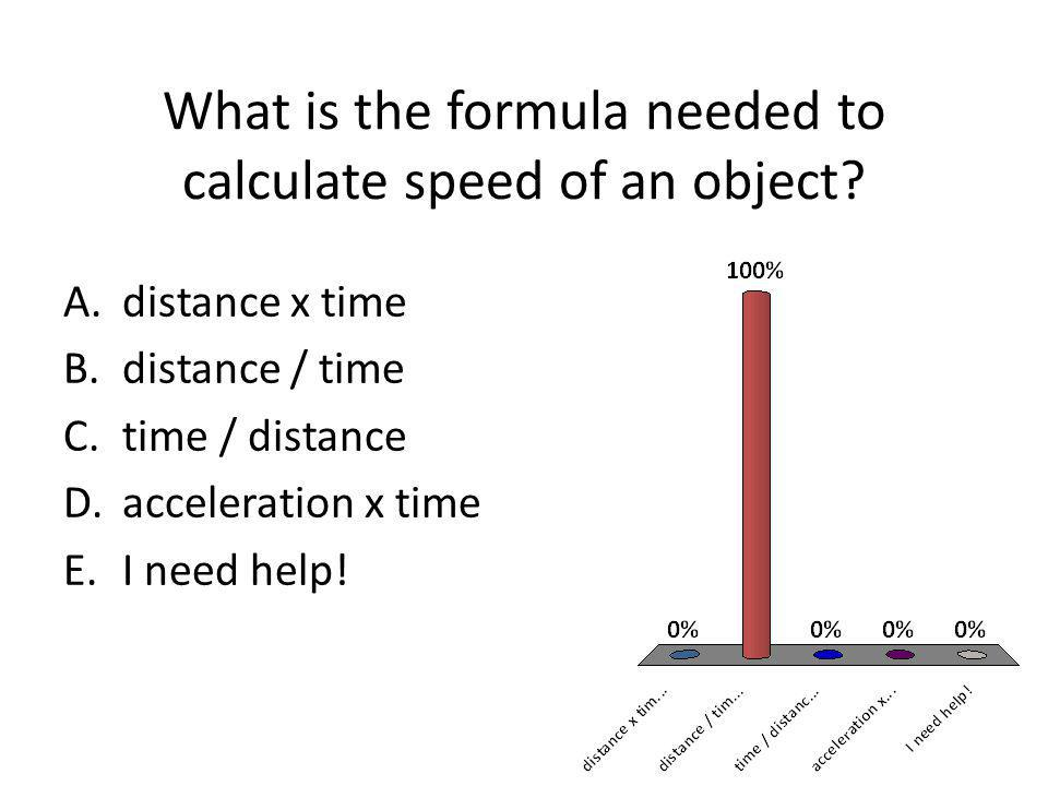 What is plotted on the y-axis when graphing acceleration? A.Speed B.Time C.Distance D.Acceleration