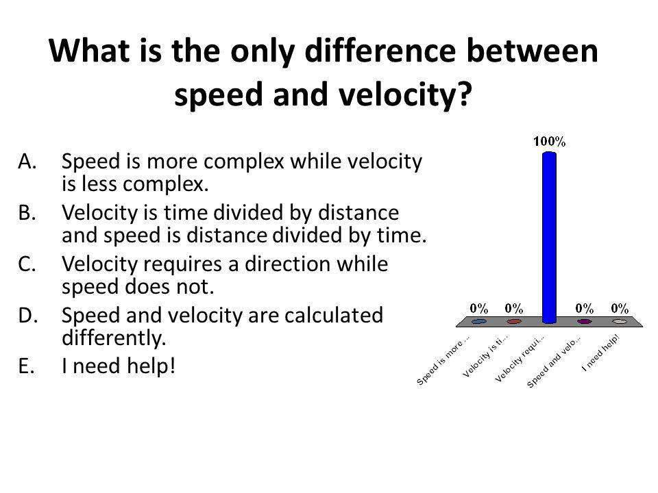 Which of the following is an acceptable unit for velocity.