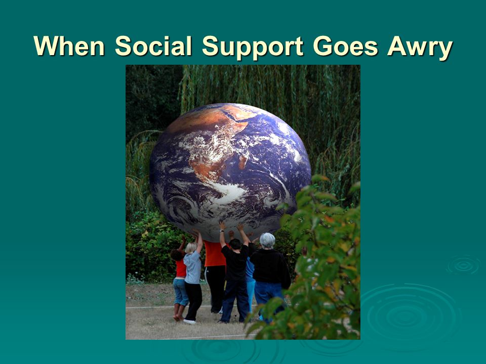 When Social Support Goes Awry