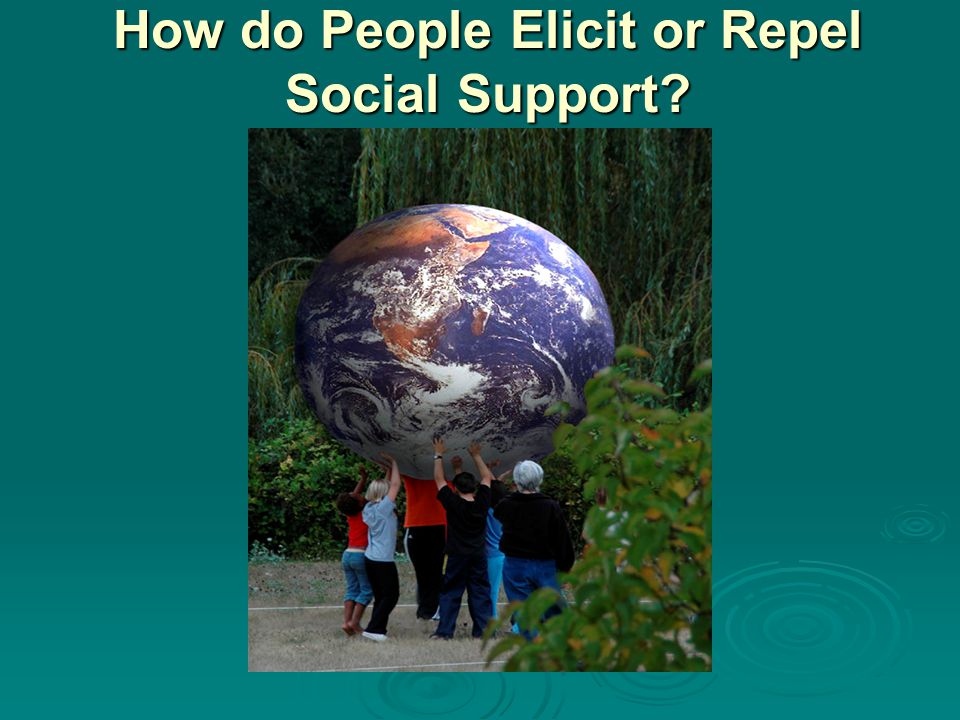 How do People Elicit or Repel Social Support