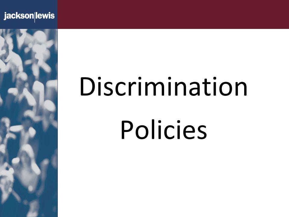 Discrimination Policies