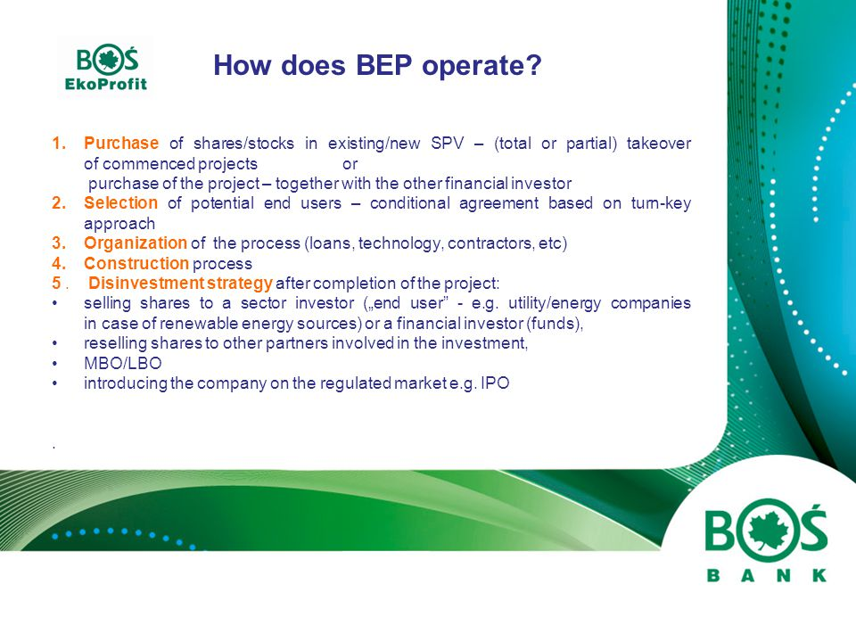 How does BEP operate.