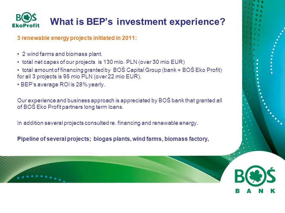 What can BEP offer to the foreign investors.