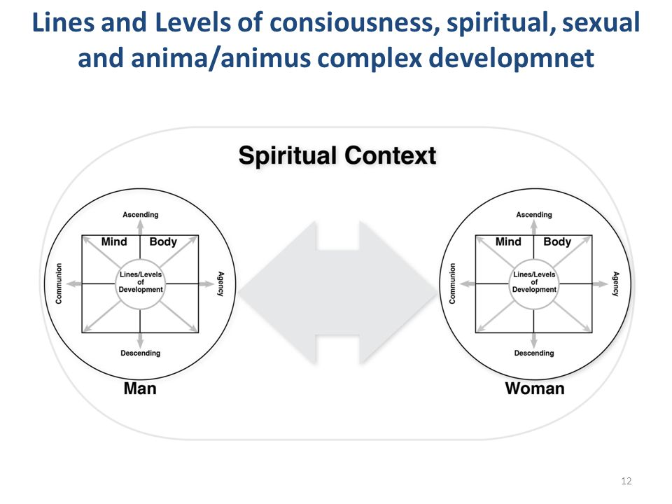 Lines and Levels of consiousness, spiritual, sexual and anima/animus complex developmnet 12