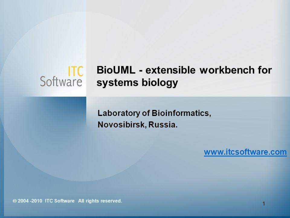 1 BioUML - extensible workbench for systems biology Laboratory of Bioinformatics, Novosibirsk, Russia. www.itcsoftware.com 2004 -2010 ITC Software All
