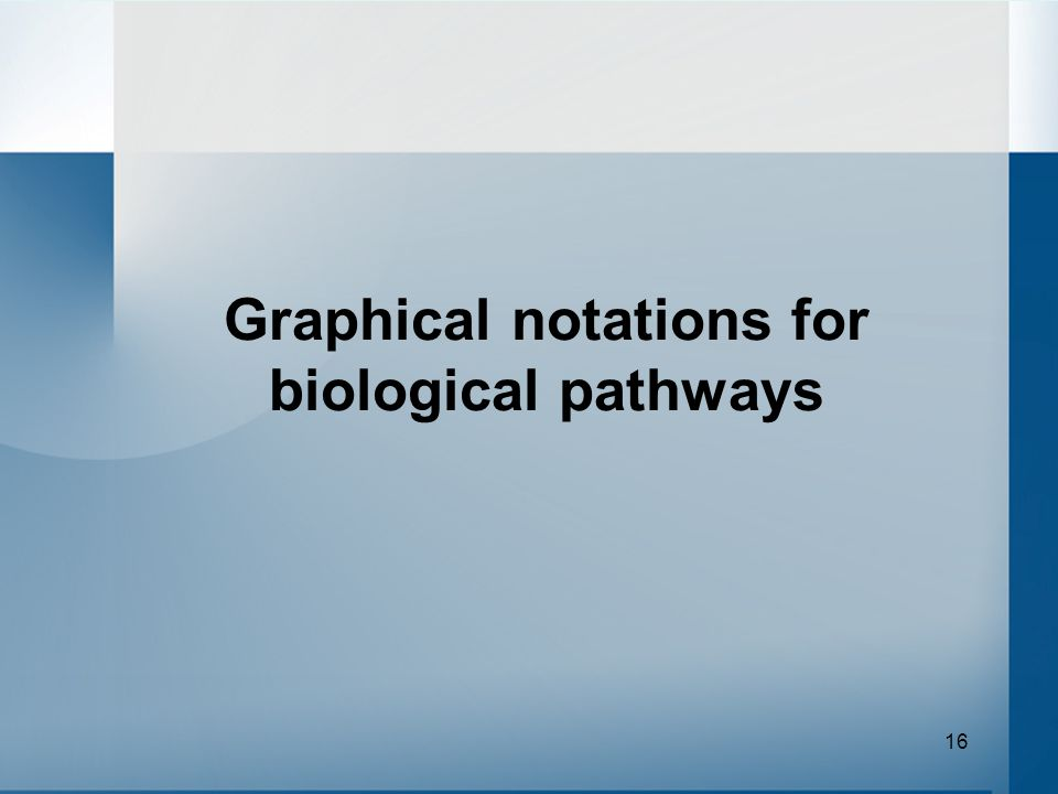 16 Graphical notations for biological pathways