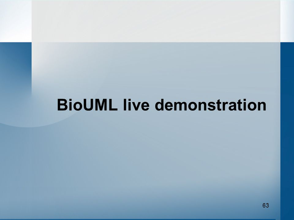 63 BioUML live demonstration