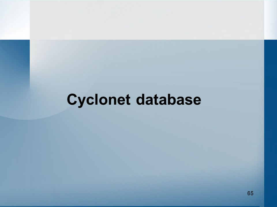 65 Cyclonet database