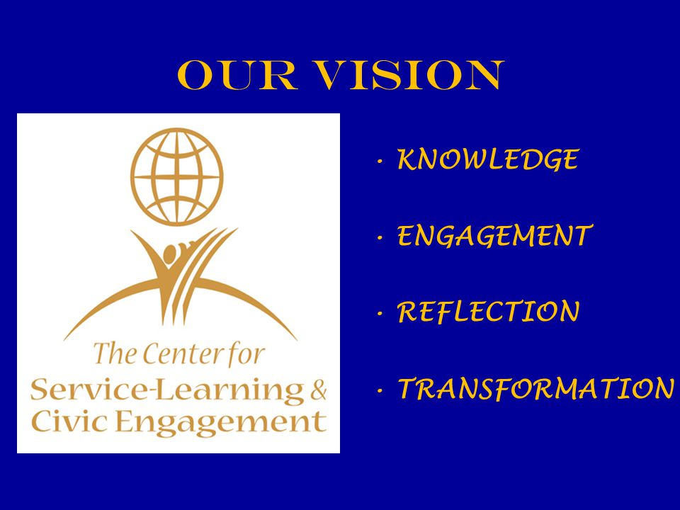 OUR VISION KNOWLEDGE ENGAGEMENT REFLECTION TRANSFORMATION