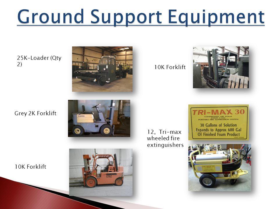 25K-Loader (Qty 2) Grey 2K Forklift 10K Forklift 12, Tri-max wheeled fire extinguishers