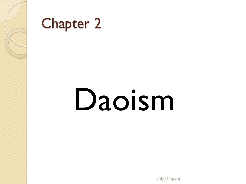 Chapter 2 Daoism Daly   Nagaraj