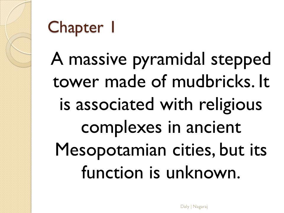 Chapter 1 Sumerians Daly   Nagaraj