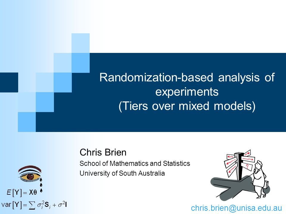 3.Randomization-based analysis of multitiered experiments 22 Identify the sets of objects and nominate the observational unit Determine the tiers: the factors indexing the sets Determine the intratier formulae Add intertier interactions to form the analysis formulae Expand each analysis formula to produce a list of model terms Designate each term as fixed or random and form model (Augment the model for other terms considered important) Identify totally confounded terms and remove to leave one Vary parameterization of terms Stage I: intratier (randomization) model Stage II: intertier mixed model Stage III: randomization- based mixed model Same method as before (Brien & Bailey, 2006, Sec.