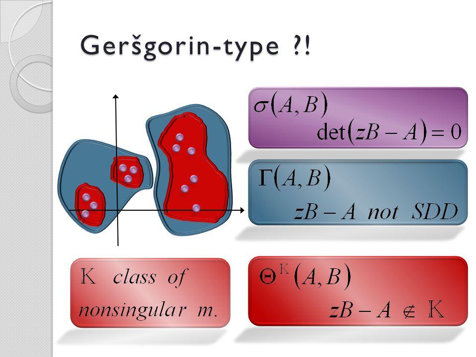 Geršgorin-type ?!