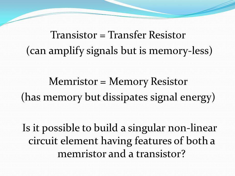 2-Port Model of Voltage-Controlled Transistor I 1 = g(V 1,V 2 ) I 2 = h(V 1,V 2 ) I 1 = Y 11 V 1 +Y 12 V 2 I 2 = Y 21 V 1 +Y 22 V 2 Small signal linearization
