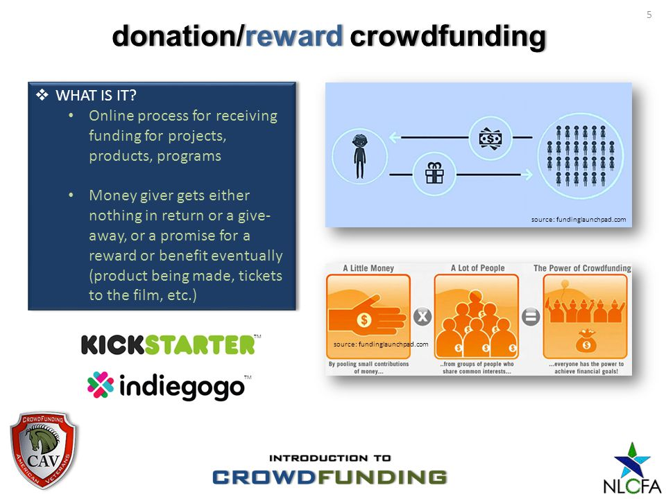 donation/reward crowdfundingdonation/reward crowdfunding 5 WHAT IS IT.
