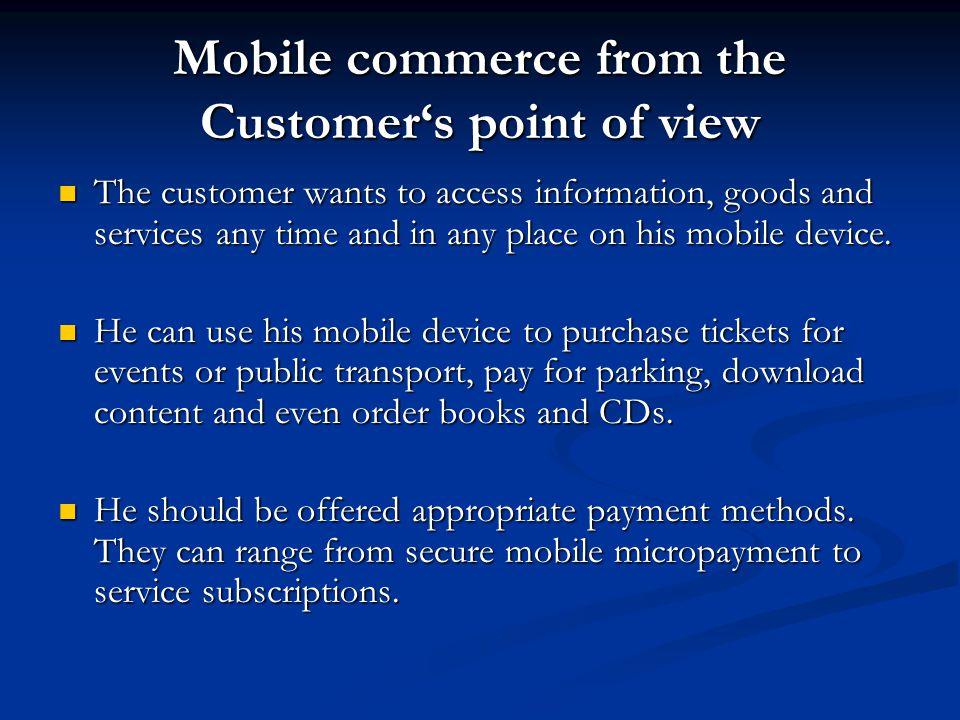 Mobile Service Scenarios Financial Services.Financial Services.