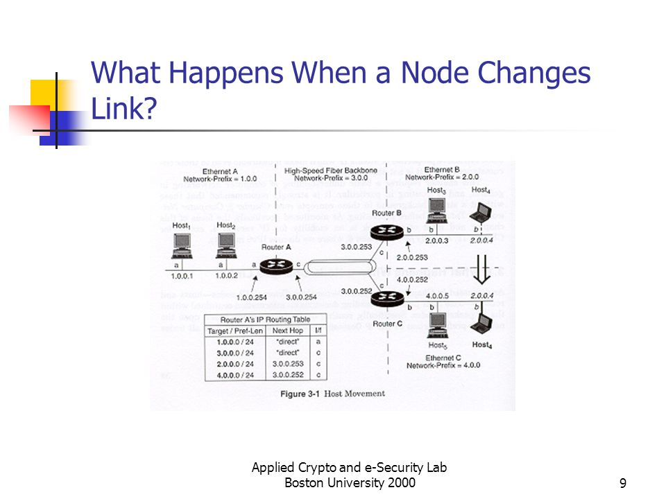 Applied Crypto and e-Security Lab Boston University 200010 Cant We Solve the Mobility Problem with Host-Specific Routes.