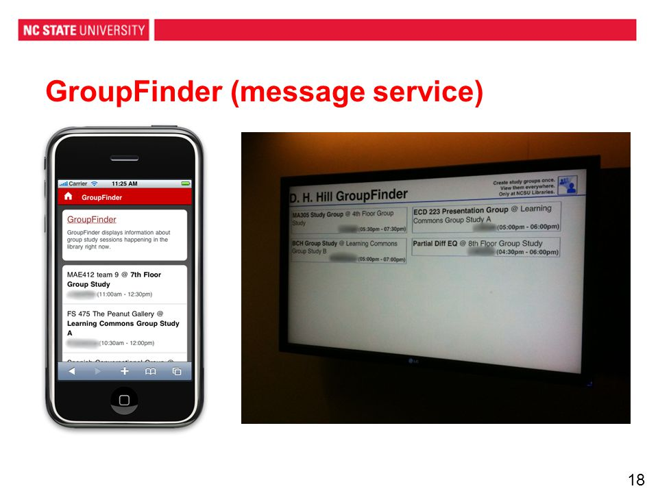 GroupFinder (message service) 18