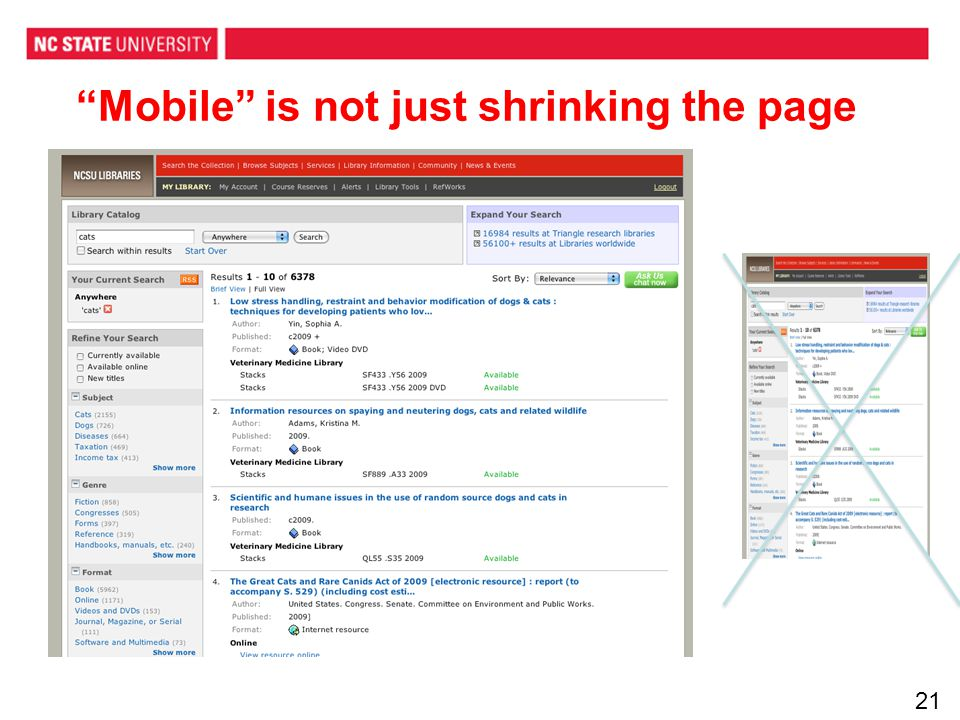 Mobile is not just shrinking the page 21
