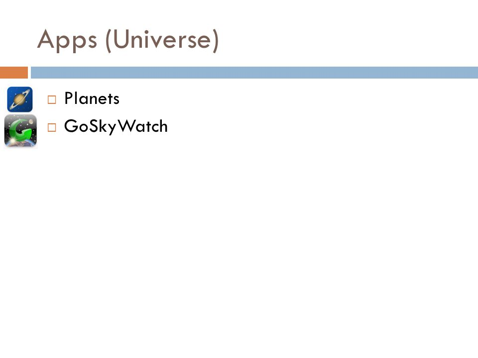 Apps (Universe) Planets GoSkyWatch