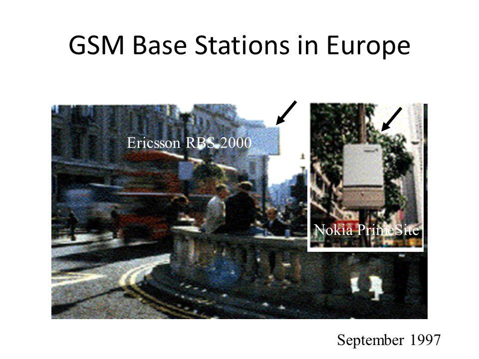 GSM Base Stations in Europe Nokia PrimeSite Ericsson RBS 2000 September 1997