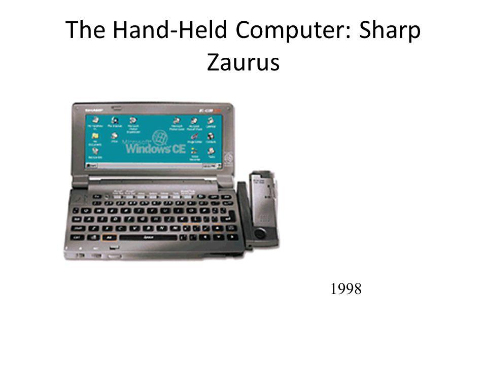 The Hand-Held Computer: Sharp Zaurus 1998