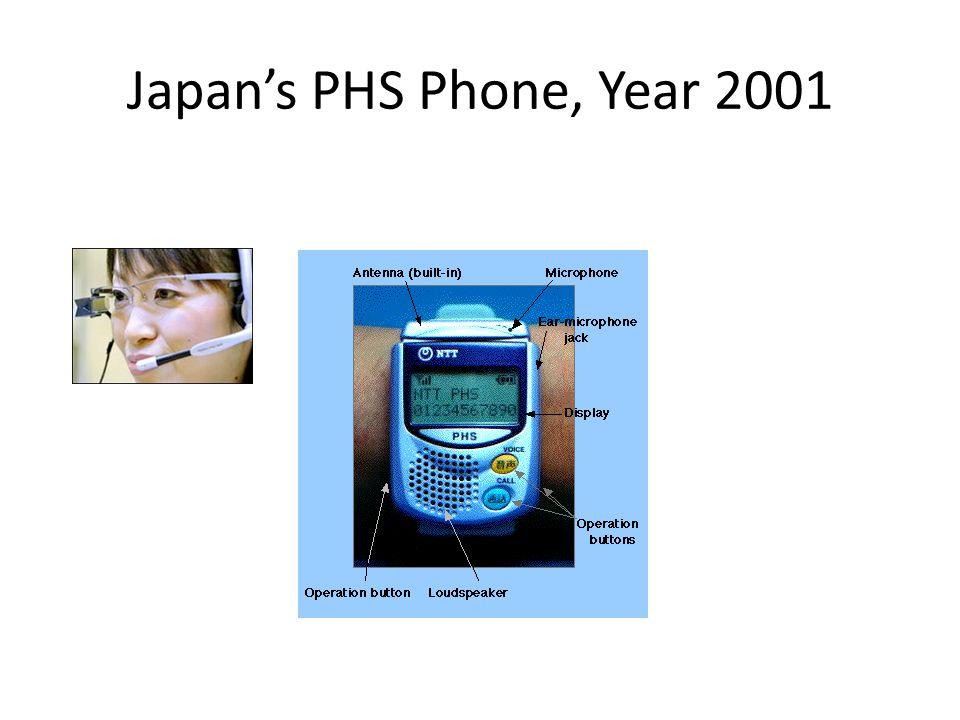 Japans PHS Phone, Year 2001