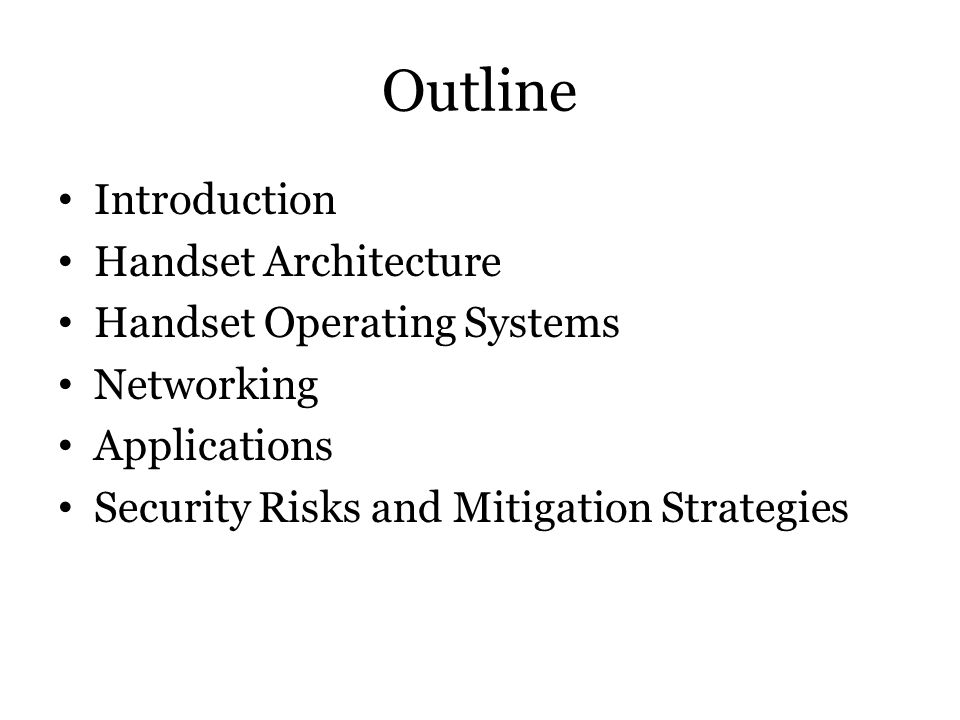 Key Handset Security Problems At this point, mobile device capability is far ahead of security.