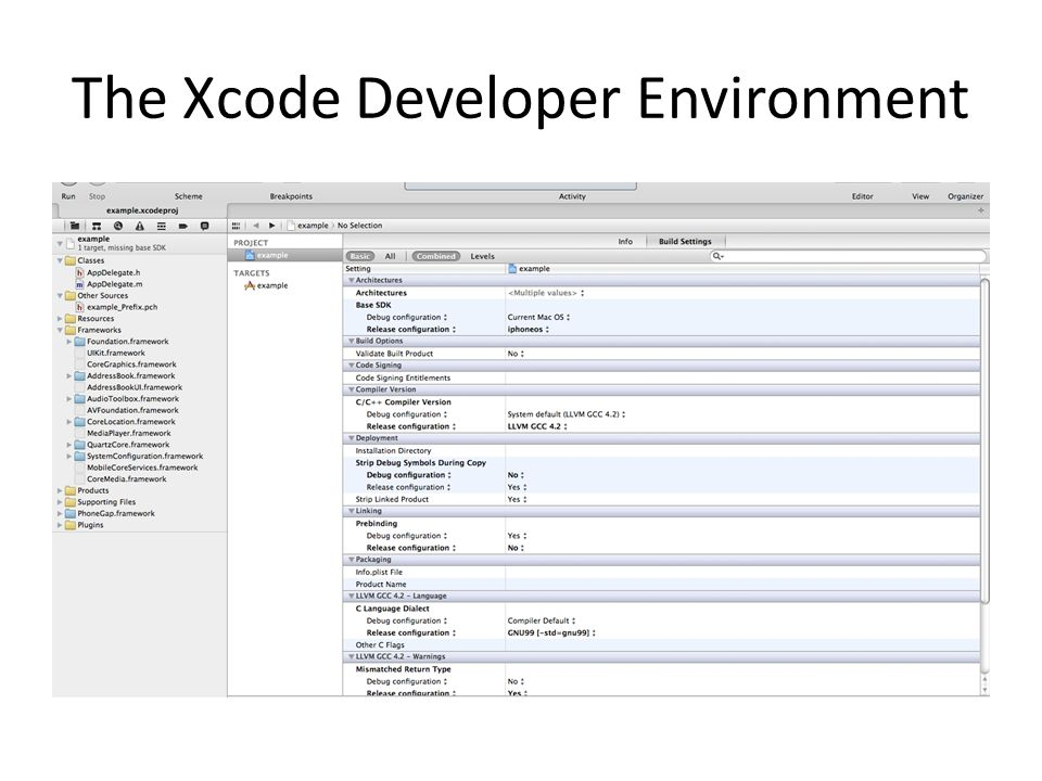 The Xcode Developer Environment