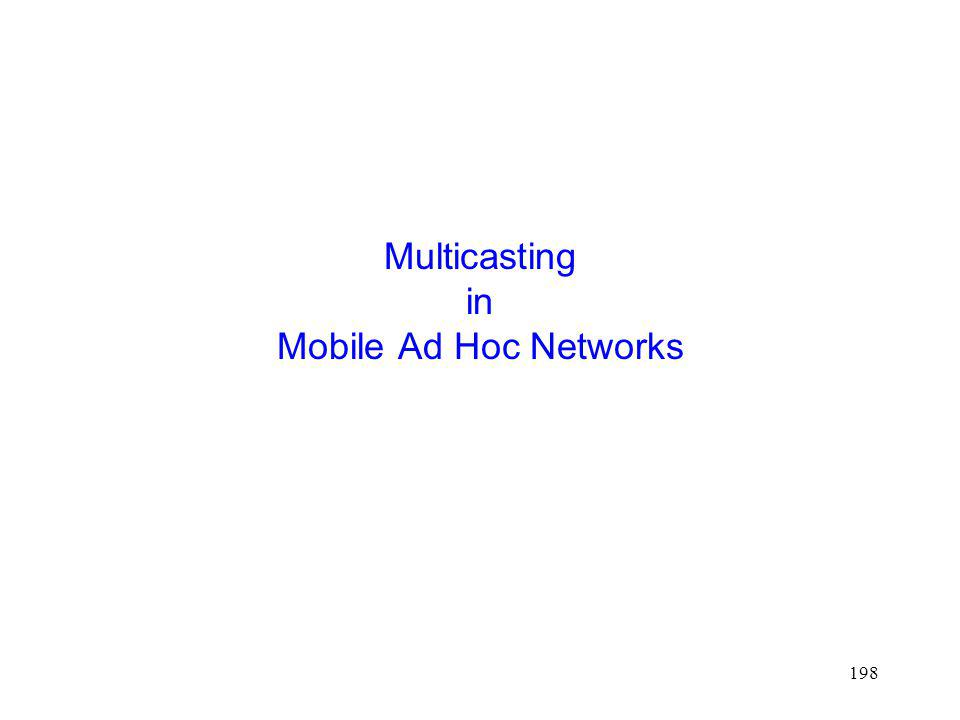 198 Multicasting in Mobile Ad Hoc Networks