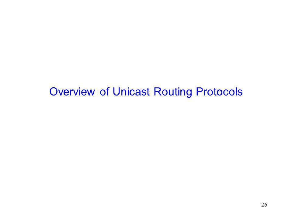 26 Overview of Unicast Routing Protocols