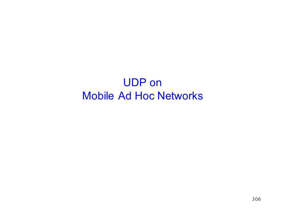 306 UDP on Mobile Ad Hoc Networks