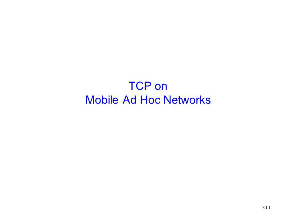 311 TCP on Mobile Ad Hoc Networks