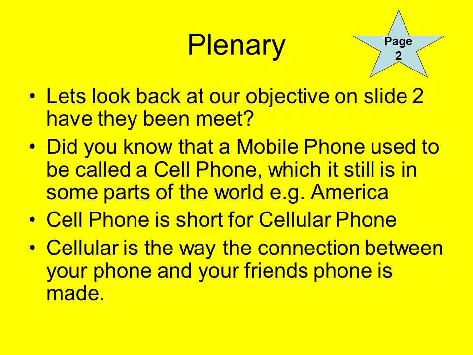 Plenary Lets look back at our objective on slide 2 have they been meet.