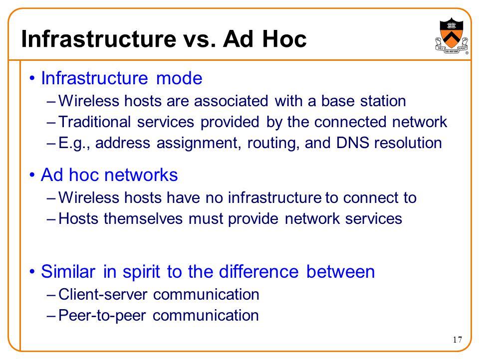17 Infrastructure vs.